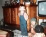 Im Wohnzimmer mit Melanie und Nicole
