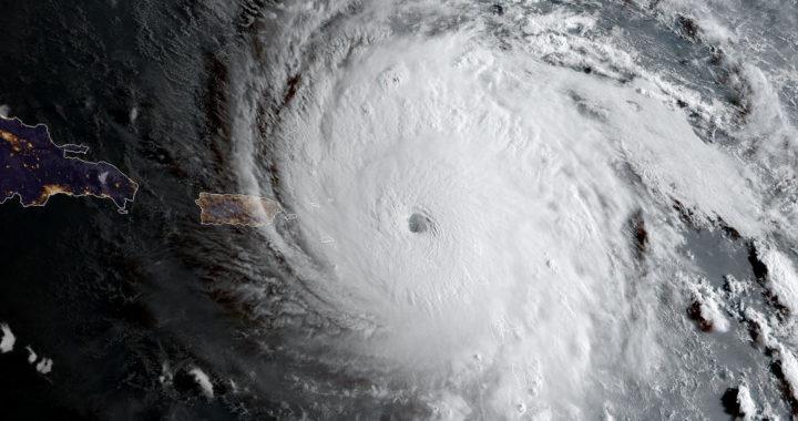 Hurricane über der Karibik