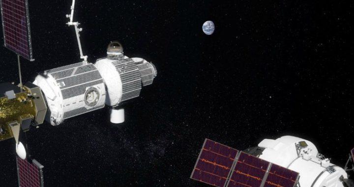 Space-Gate Mondraumstation