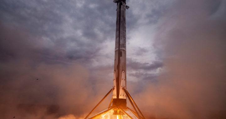 Space X Booster landet